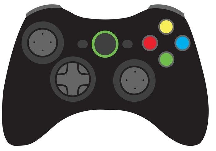 black video game controller  video game controller games