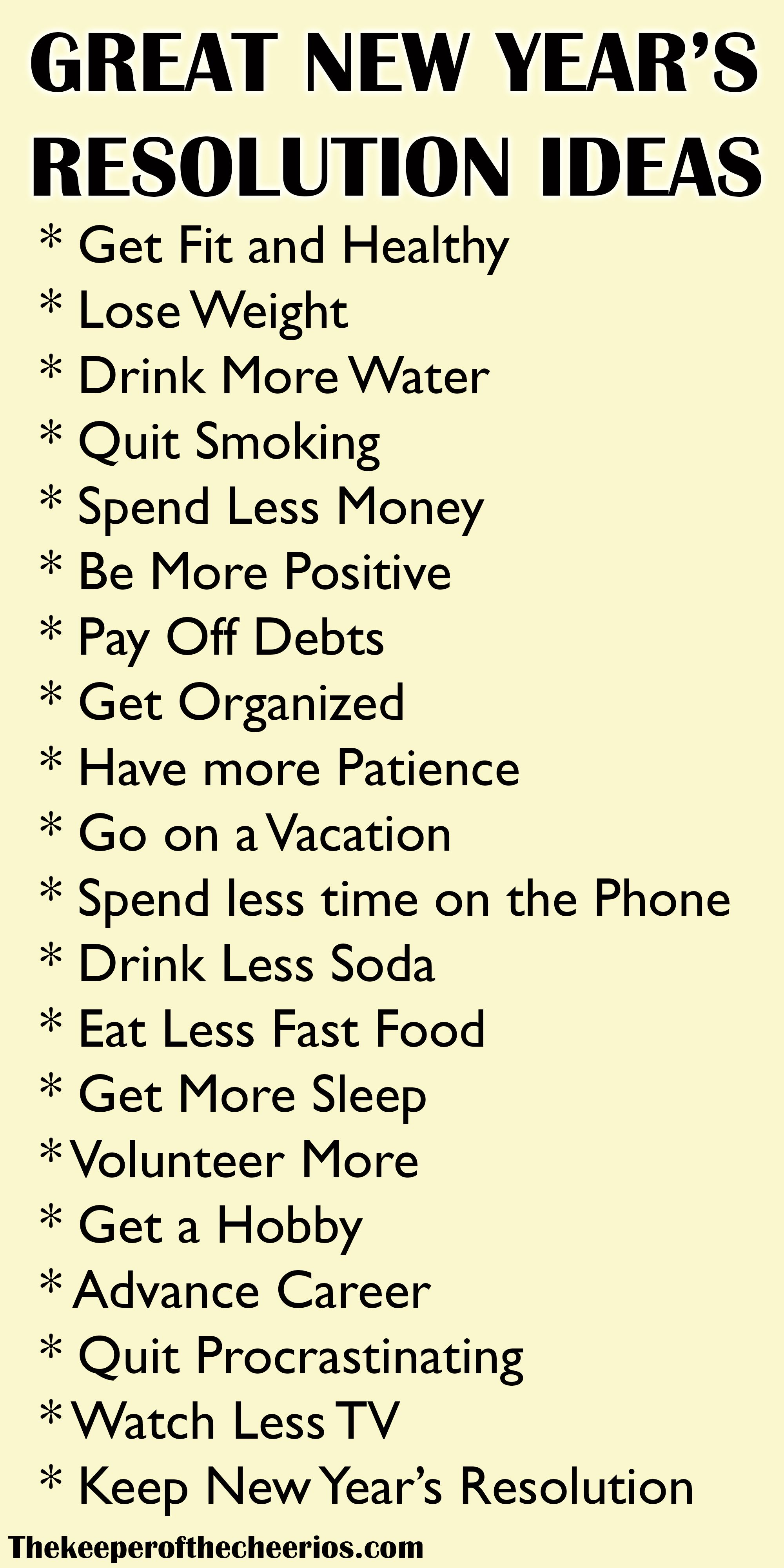 New Years Resolution Ideas Quotes about new year, Year