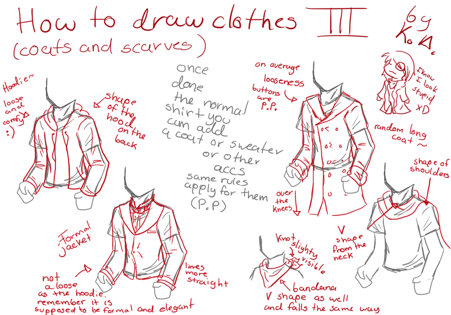 Clothes Tutorial 3 By Otackoon On Deviantart Drawing Clothes Fashion Drawing Tutorial Drawing Tutorial