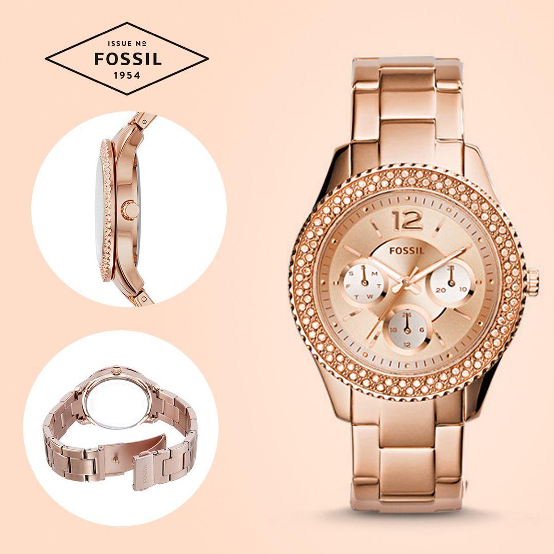 f4f937b55306  Reloj  Fossil con diseño refinado en acero inoxidable y piedras brillantes  que le dan un acabado perfecto.  relojes  colombia  relojes  muje
