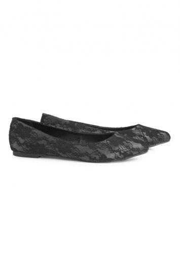 Lace Covered Ballerina, £40.00 Sizes 7 - 11 #tallwoman #pumps #flatshoes #