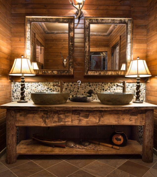 Rustic Bathroom Mit Bildern Badezimmer Rustikal Badezimmer Landhausstil Rustikale Bad Eitelkeiten