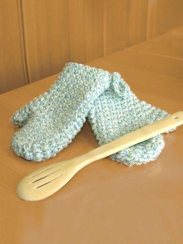 Oven Mitts Yarn Free Knitting Patterns Crochet Patterns