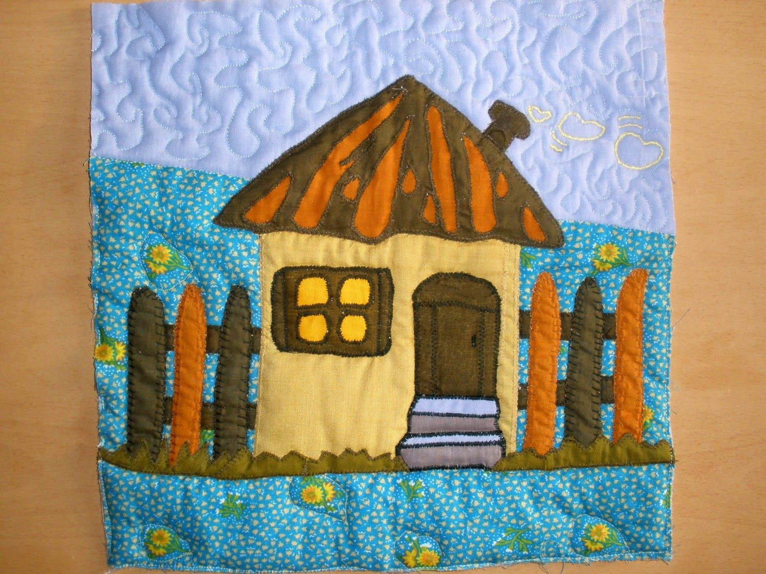 Ada's country life: Quilt Along February - houses