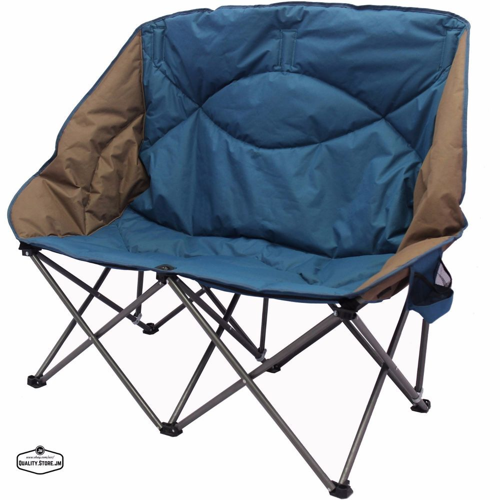 Double Camping Chair Double Folding Chair Camping Camp Portable Beach Chairs Outdoor