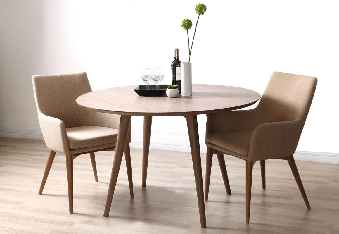 Mesa de comedor diseño redondo nogal LIVIA | Hogar | Pinterest ...