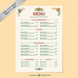Food Vectors Photos And Psd Files Free Menu Templates