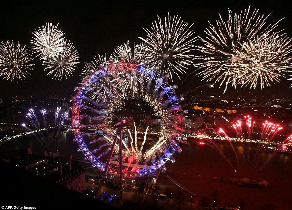 London England New Years 2017 celebrations New year's