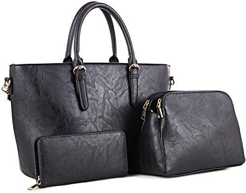 Enjoy exclusive for Womens 3Pcs Large Tote Handbag Fashion Shoulder Work Bag Satchel Purse o Enjoy exclusive for Womens 3Pcs Large Tote Handbag Fashion Shoulder Work Bag...
