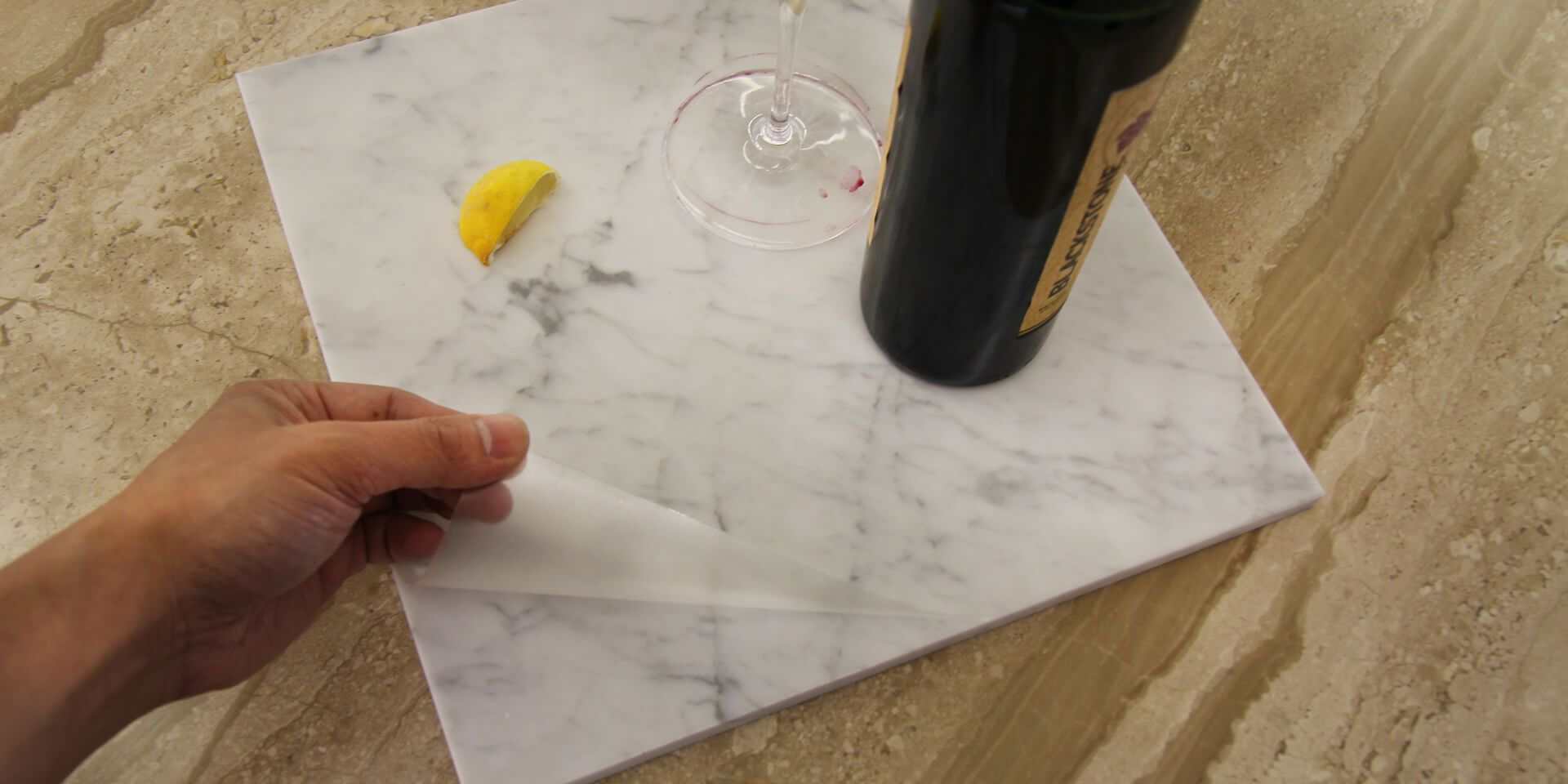 Stoneguard Usa Clear Satin Marble Counter Protection Film In 2020