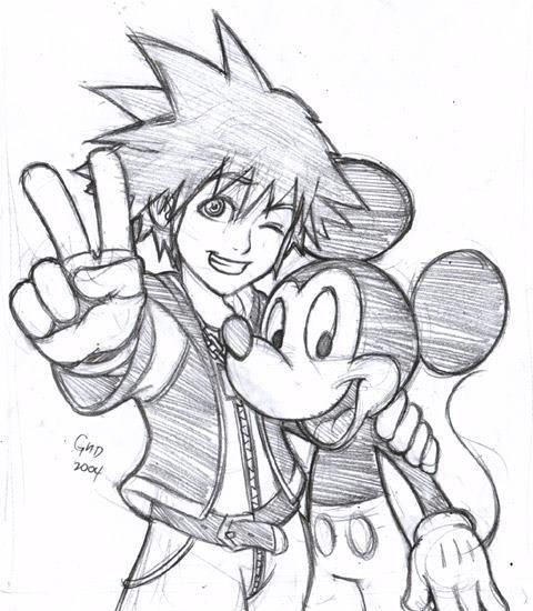Sora & Mickey - Kingdom Hearts | A R T | Pinterest | Imagenes ...