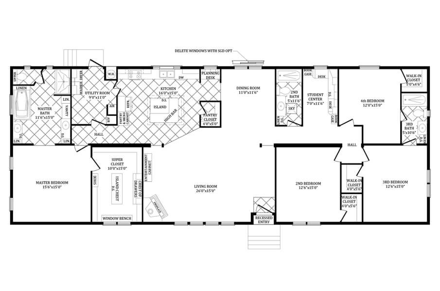 Double Wide Manufactured Home Floorplans Double Wi