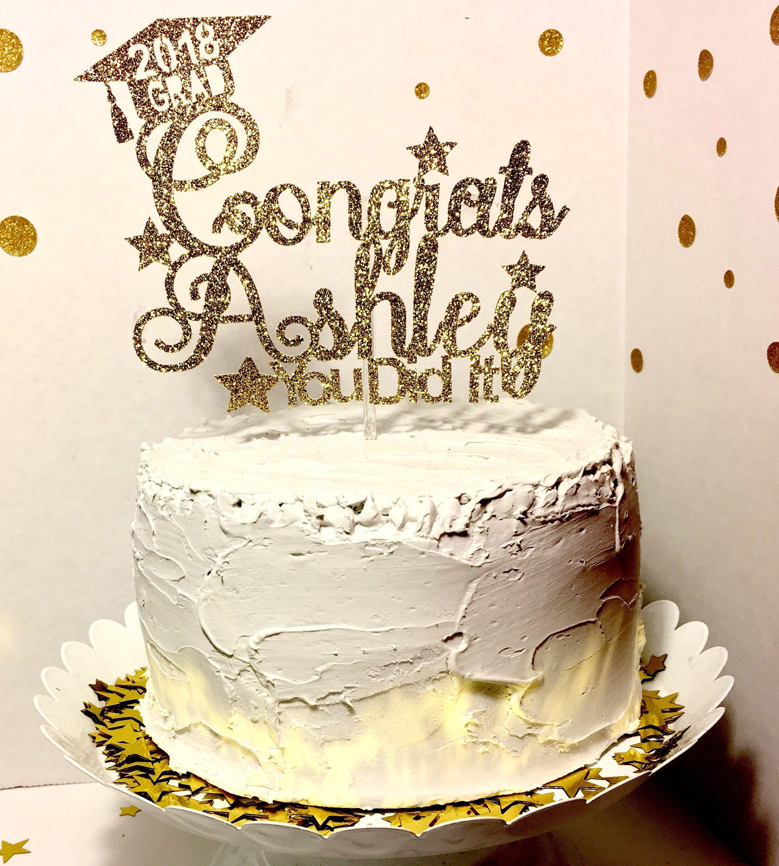 Personalized Graduation Cake Topper Cake Topper Celebration