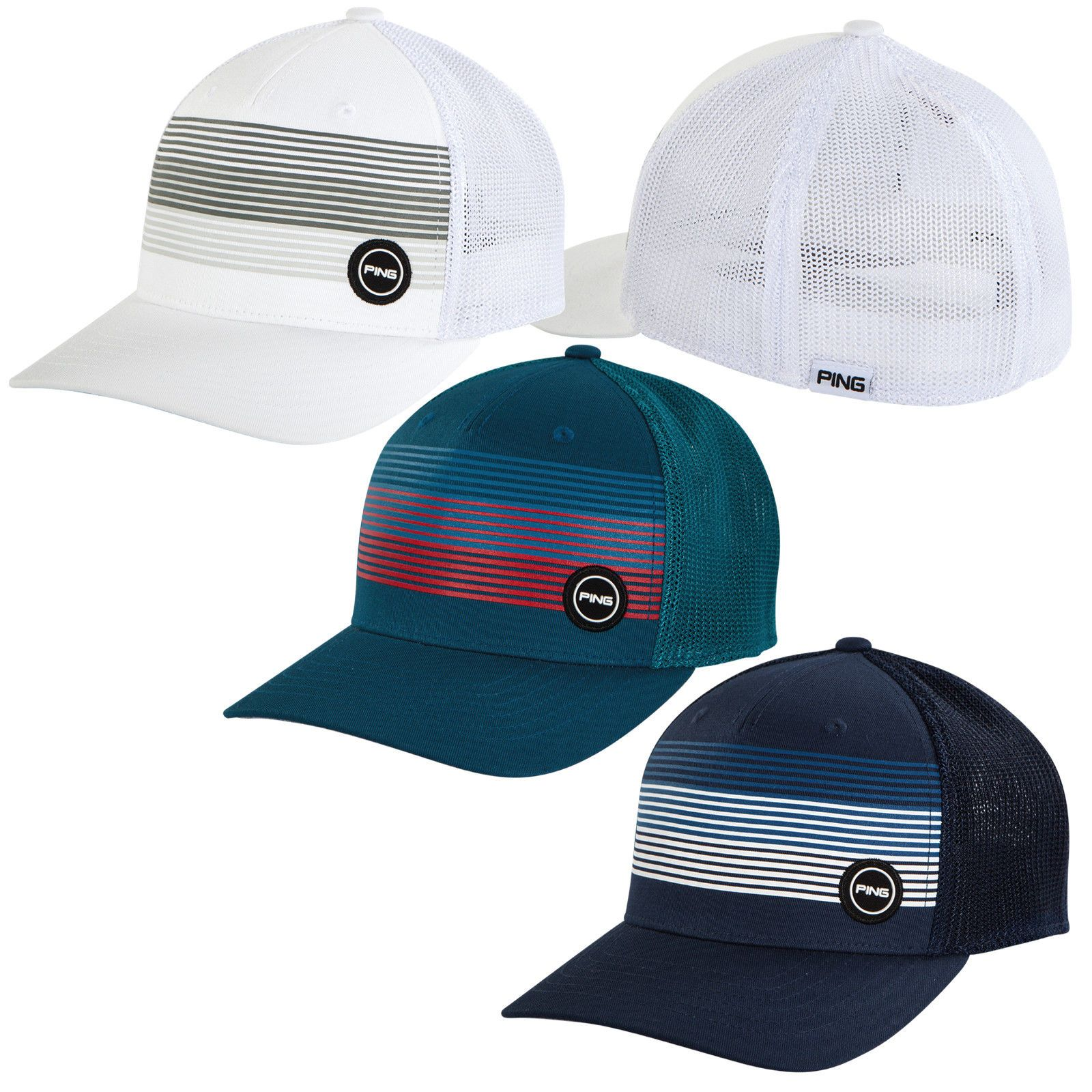 cebafd6a6de PING SPORT MESH HAT MENS FITTED GOLF HAT- NEW 2018 PICK SIZE   COLOR ...