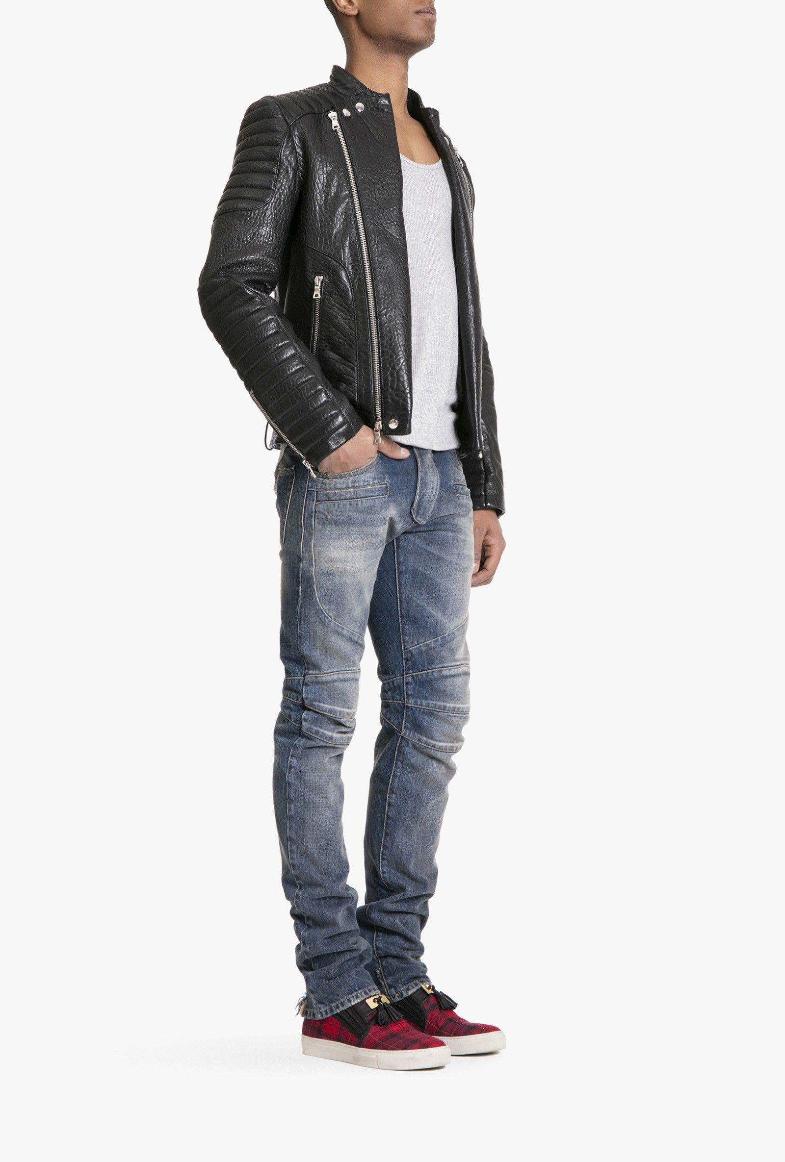 f2e7876c67dc Balmain - Leather biker jacket - Mens leather jackets   MENs ...