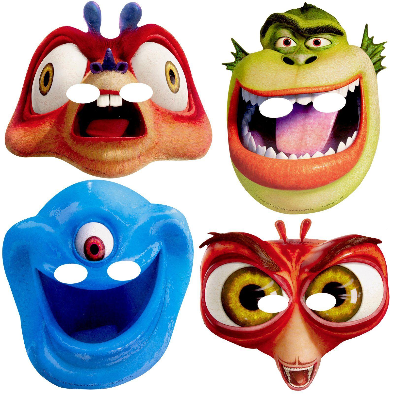 Monsters Vs Aliens Masks 8