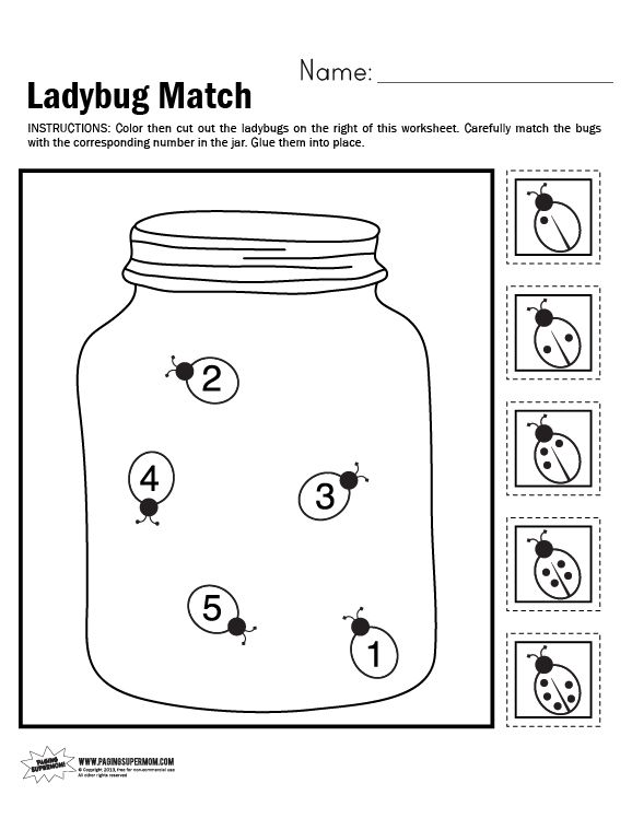 ladybug coloring pages worksheets - photo#35