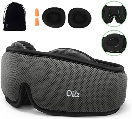 Amazon Com Sleep Mask For Women Men 3d Contoured Eye Mask For Sleeping With Breathable Memory Foam 100 Light Blockin Sleep Mask Earplugs How To Fall Asleep