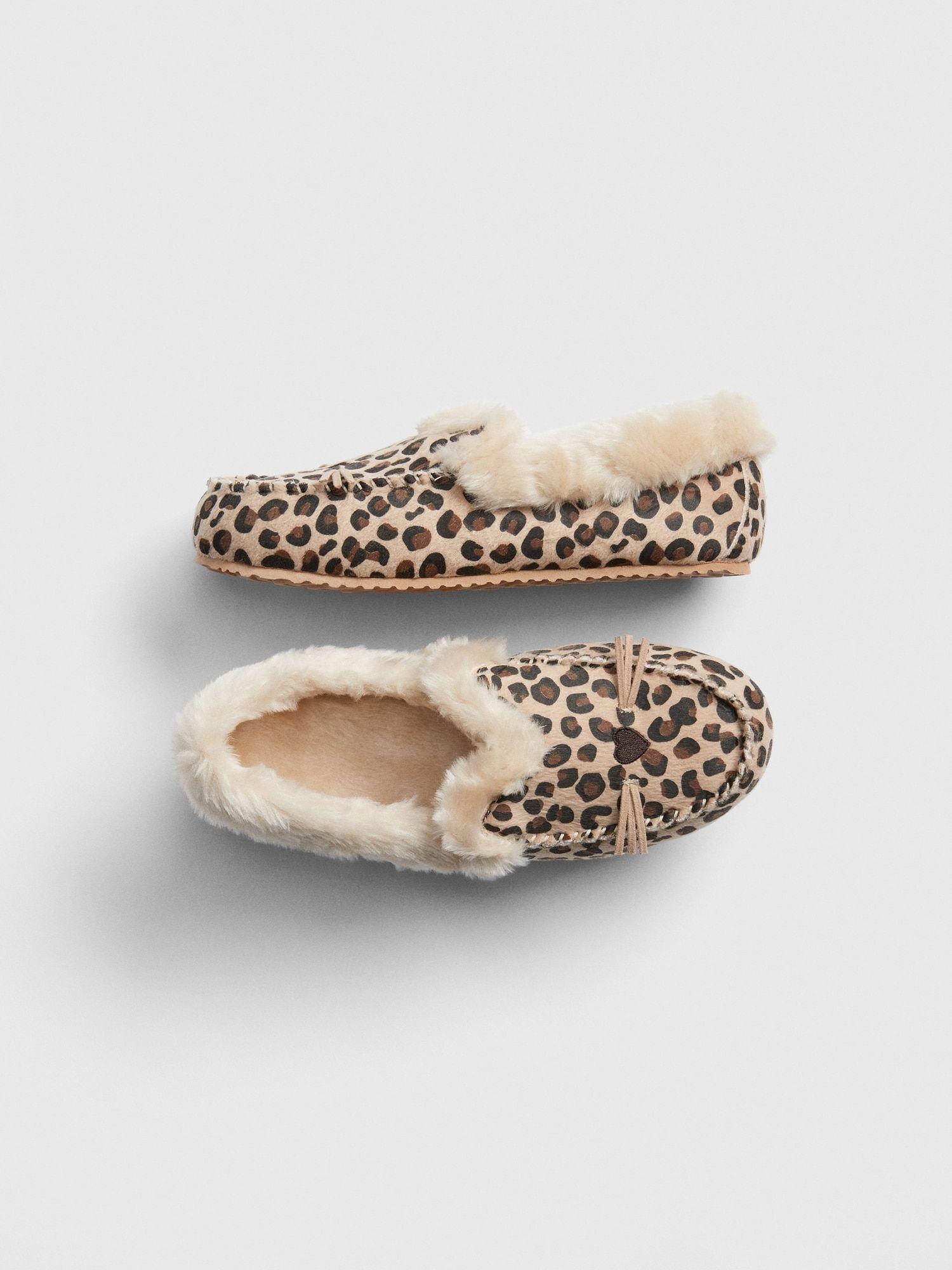 Kids Leopard Slippers   Leopard