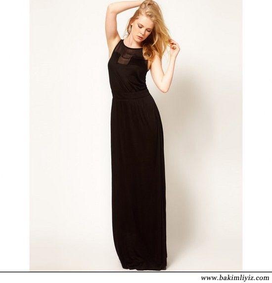 Sade Siyah Elbise Modeleri Maksi Elbiseler Siyah Elbise Ve The Dress