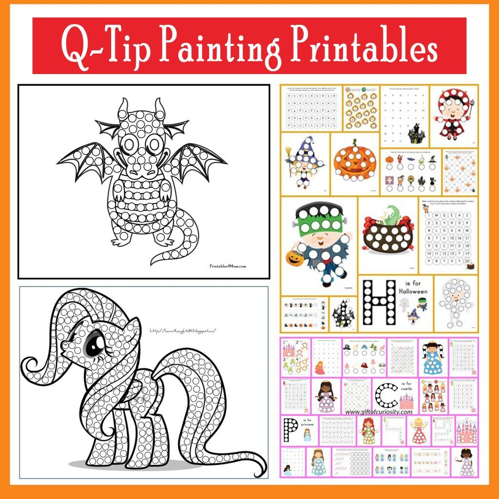 Q Tip Painting Templates And Do A Dot Printables