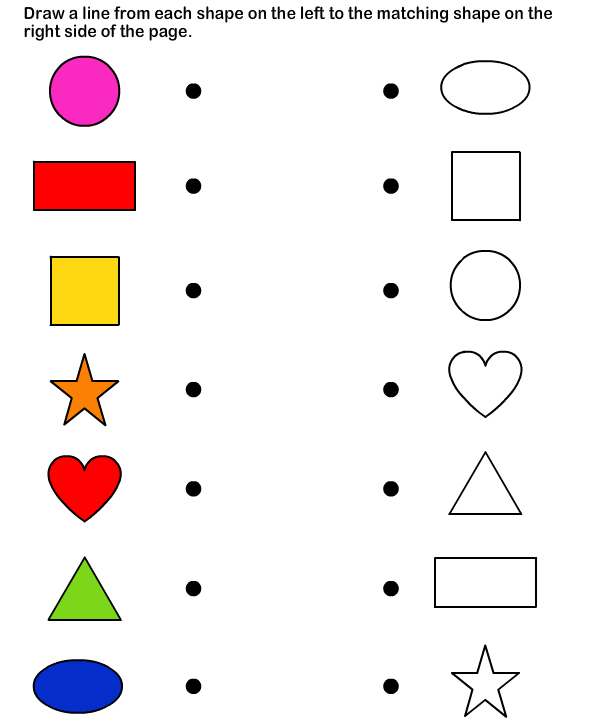 Shapes Math Worksheets Preschool