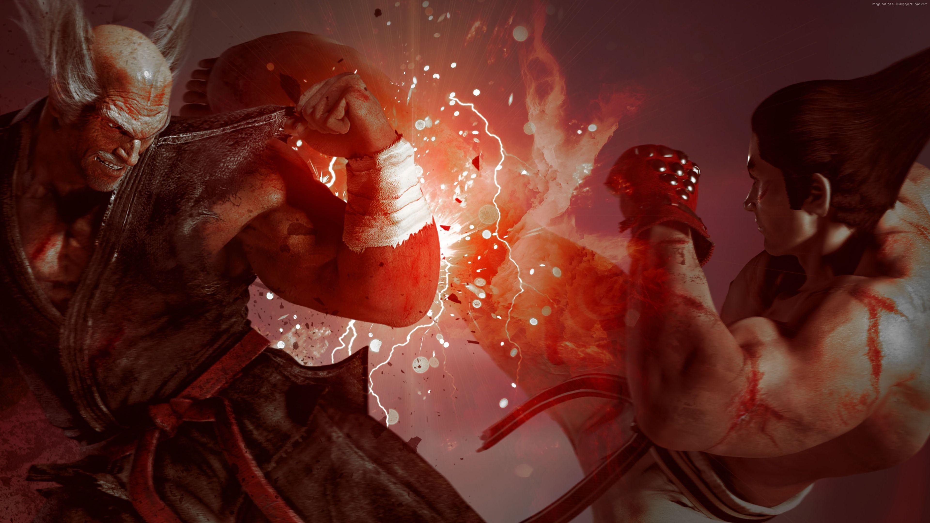 Heihachi Vs Kazuya Tekken 7 4k Wallpaper 3840x2160 Samsung