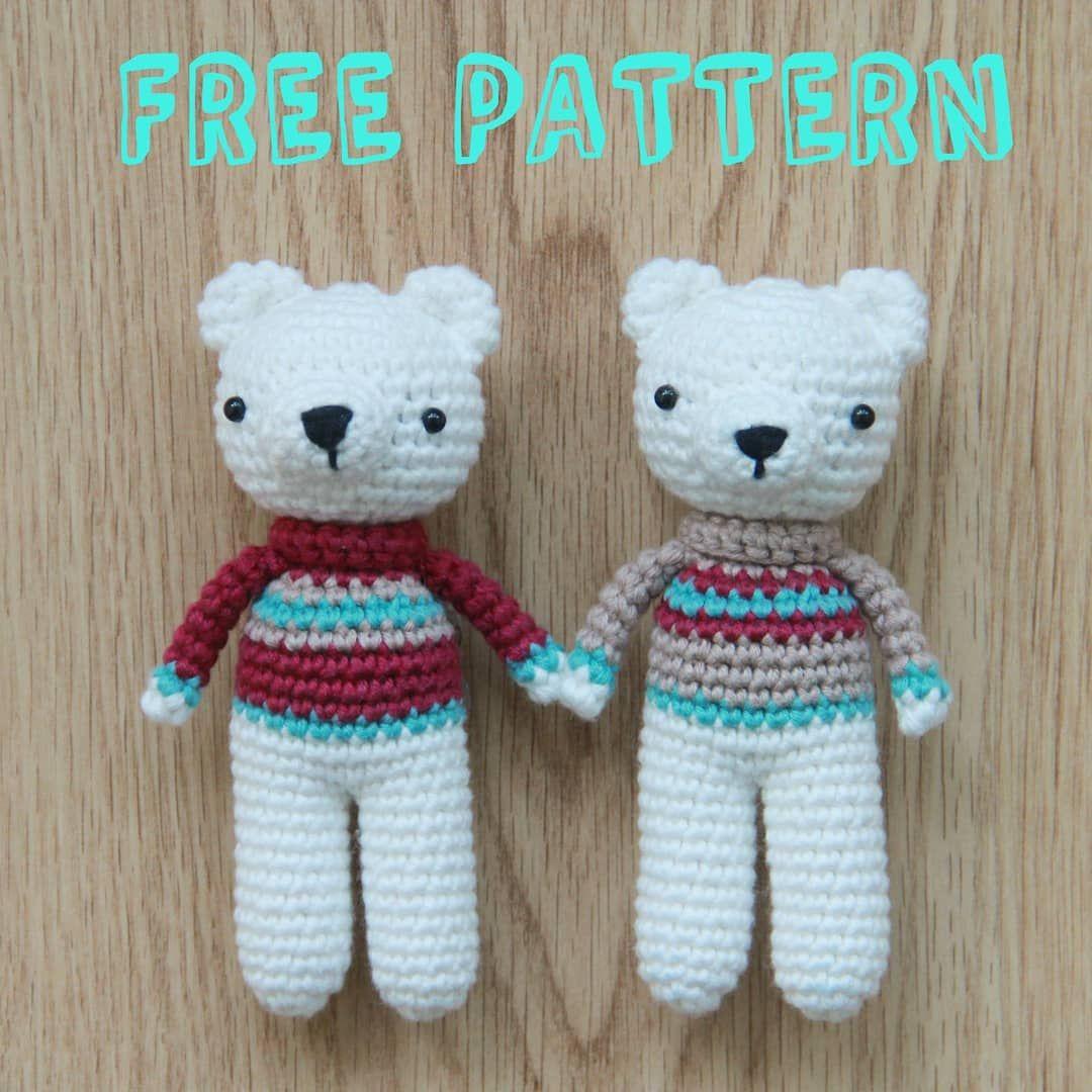 Free Polar Bear Crochet Amigurumi Pattern Tejidos Crochet