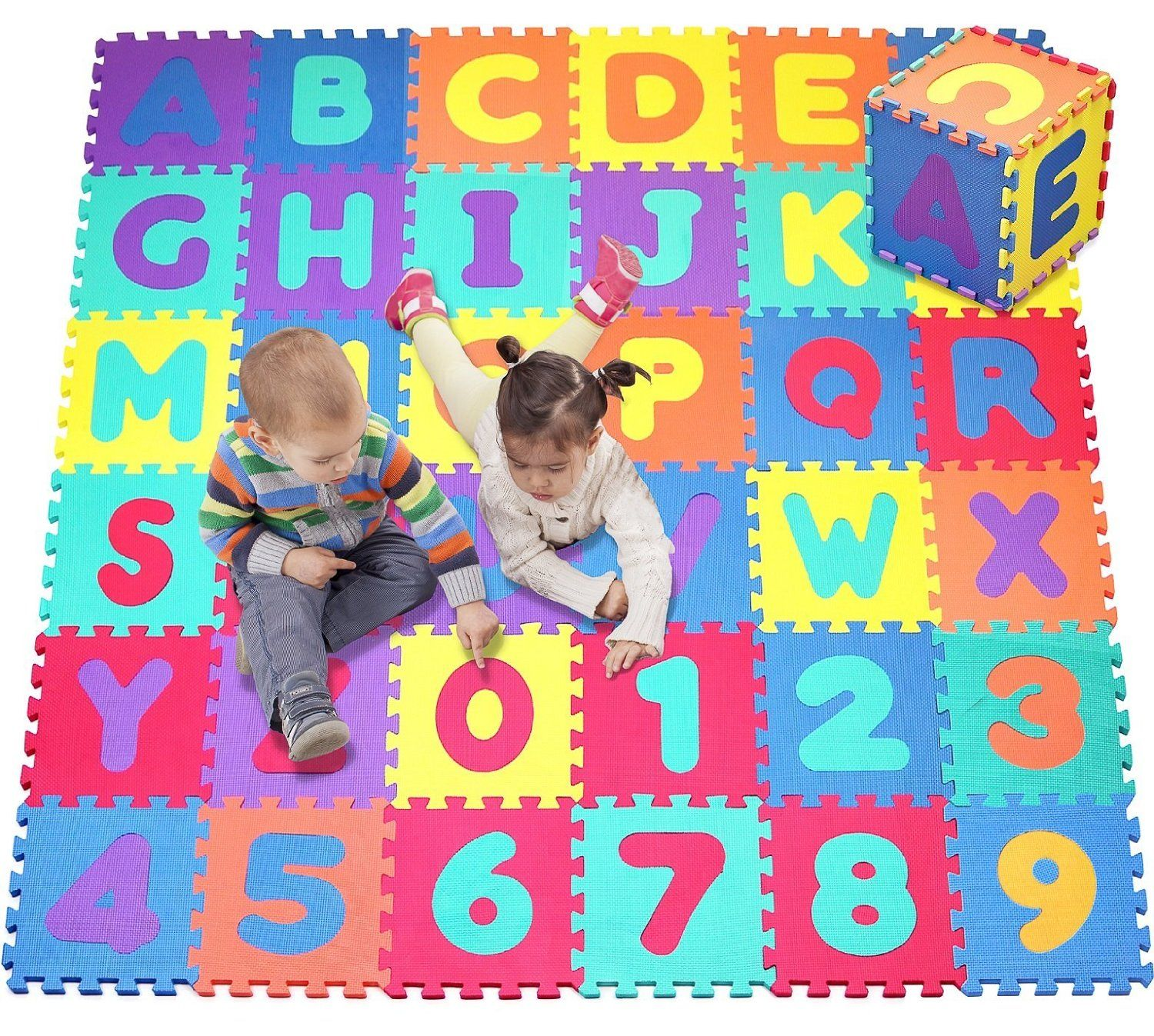 Amazon Com Click N 39 Play Foam Alphabet And Numbers Puzzle Play Mat 36 Tiles Tile Size 12 X 12 Inches Toys Amp Games Play Mat Kids Playmat Playmat