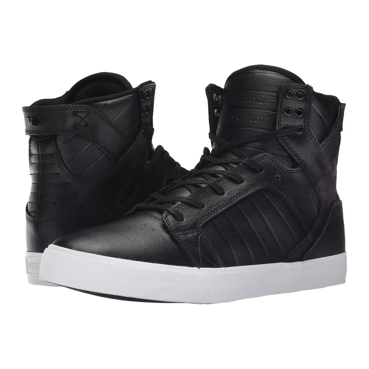 2db060215f SUPRA Skytop Men | Black/White | Clothing | Supra skytop, Mens skate ...