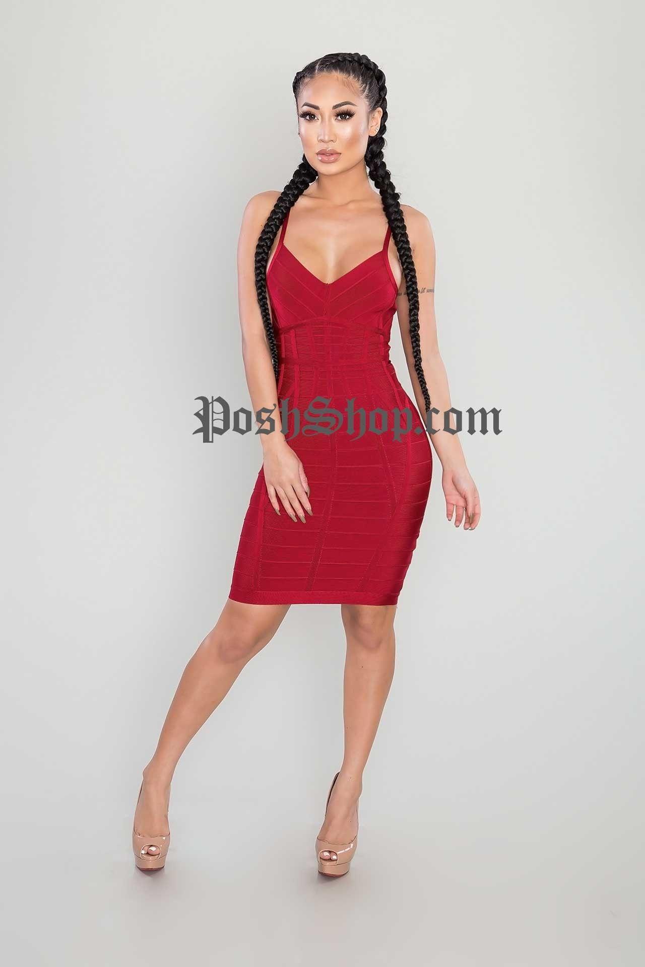 Ruby red bandage dress