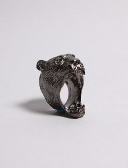 crazy bear ring.  I want to see it on a finger!