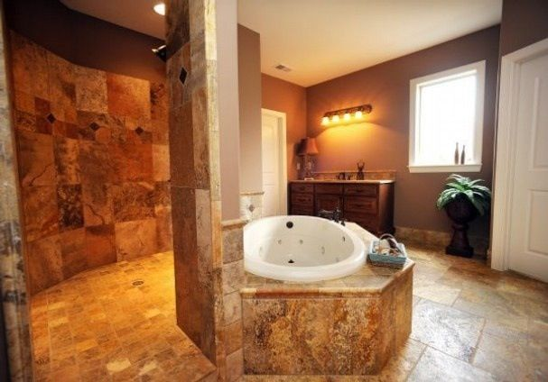 Open Shower Love This One Dream House Pinterest: open master bathroom designs