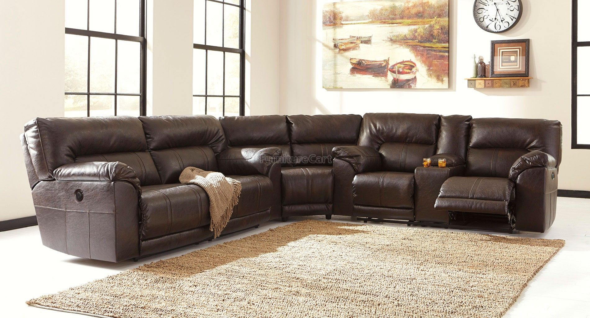 Best Barrettsville Durablend Chocolate Power Reclining 400 x 300