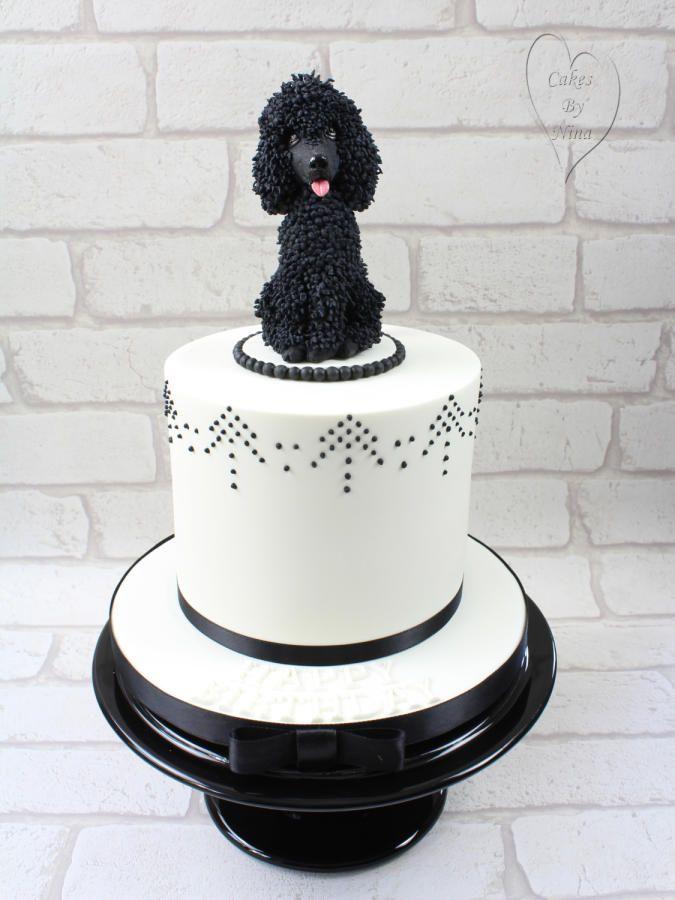 Astonishing Poodle Cake Cake By Cakesbyninacalverley Dog Cakes Cake Funny Birthday Cards Online Aeocydamsfinfo