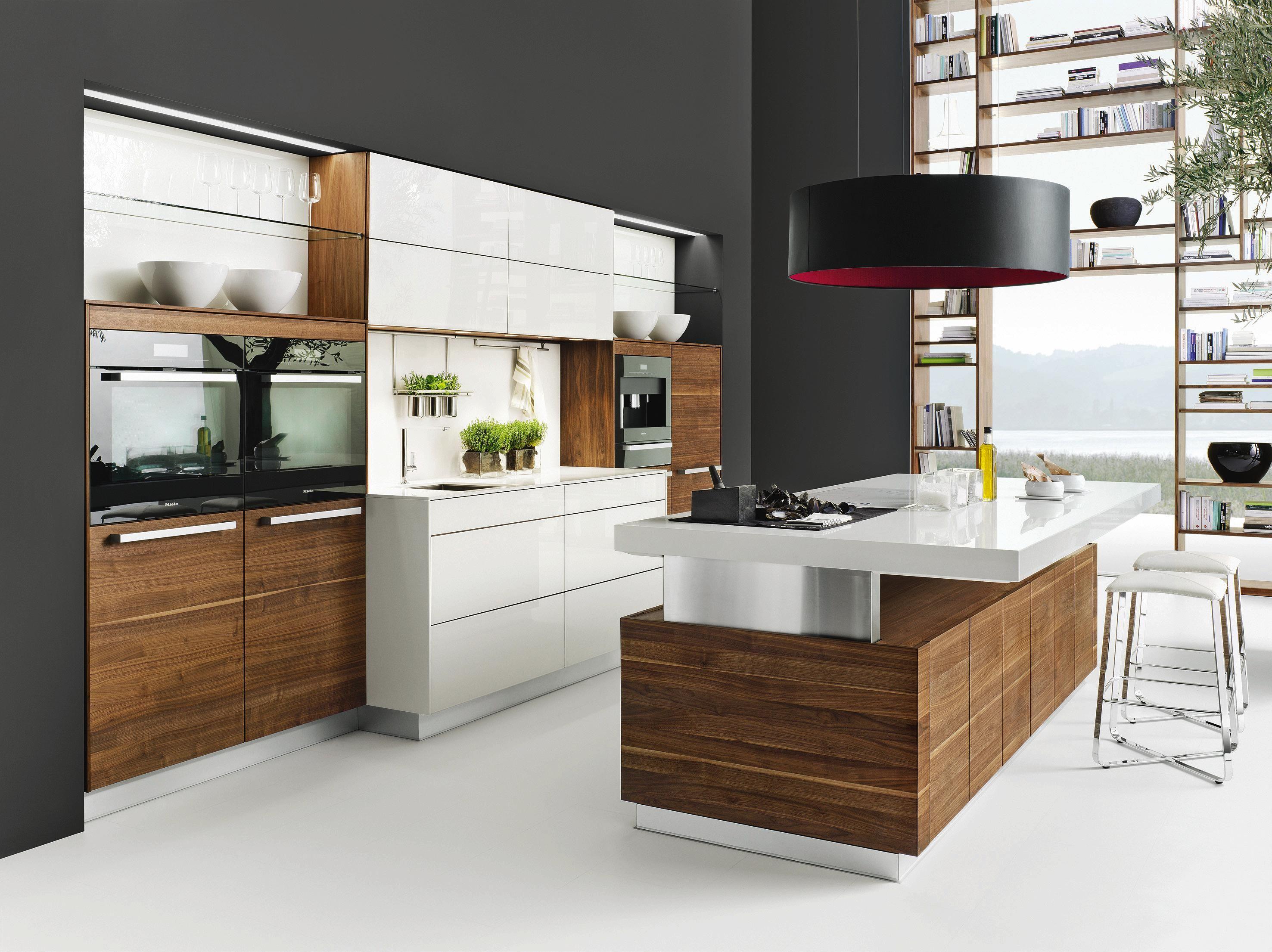 moderne küche aus holz kombiniert funktion und design