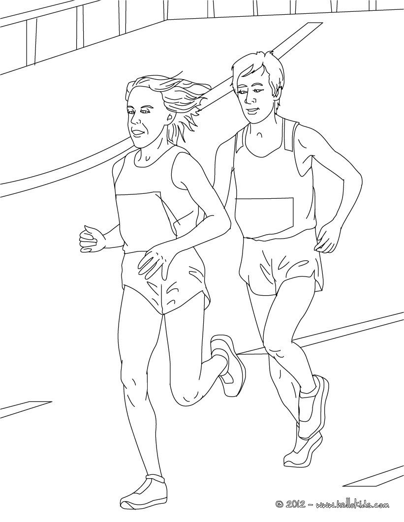 This Marathon athletics coloring page would make a cute