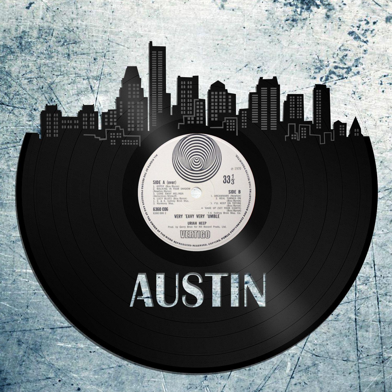 Austin Skyline, Austin Cityscape, Austin Texas Wall Art, Vinyl ...