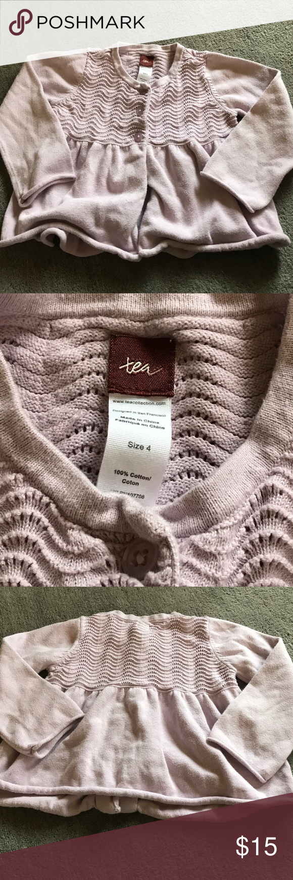 Tea Collection purple cardigan; Size 4 | Light purple ...