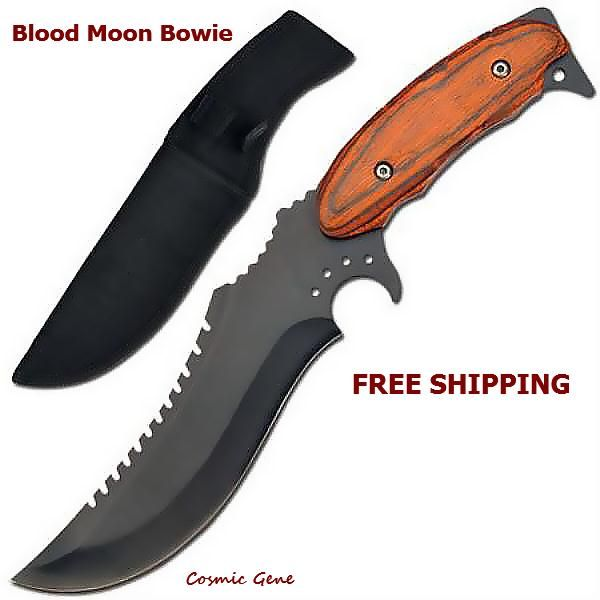 Checkout this amazing deal Blood Moon Bowie Knife,$17.5