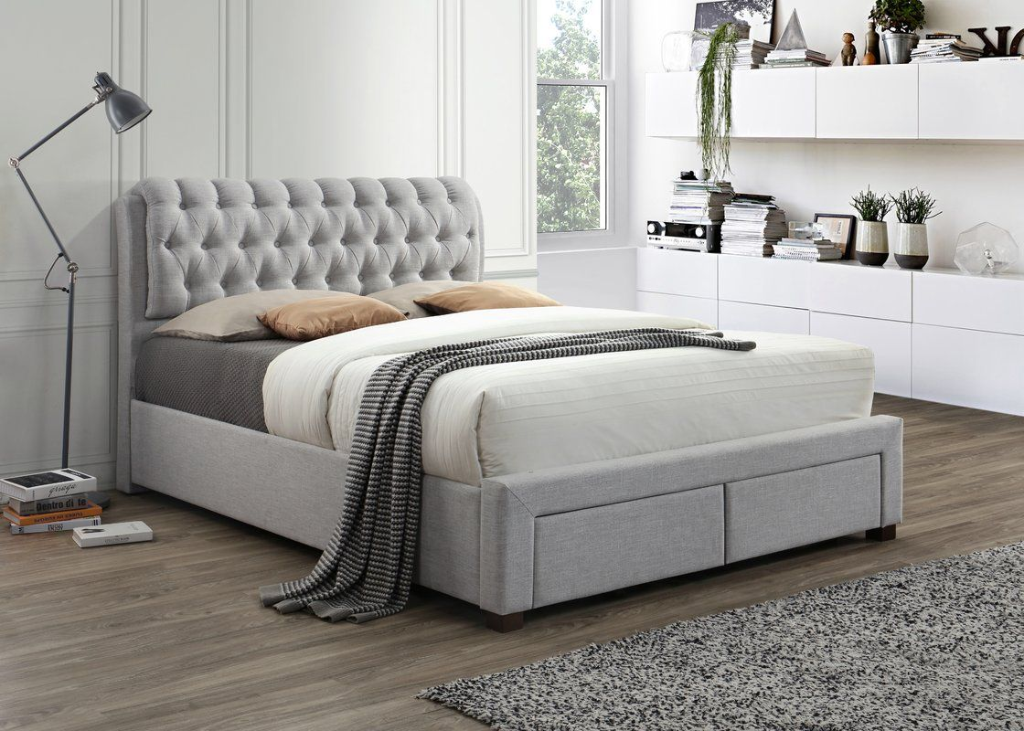 Pin by stella jackson on Bedroom Ideas Grey bed frame