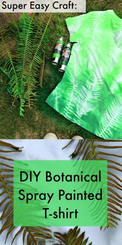 Easy Craft: DIY Botanical Spray Painted T-shirt