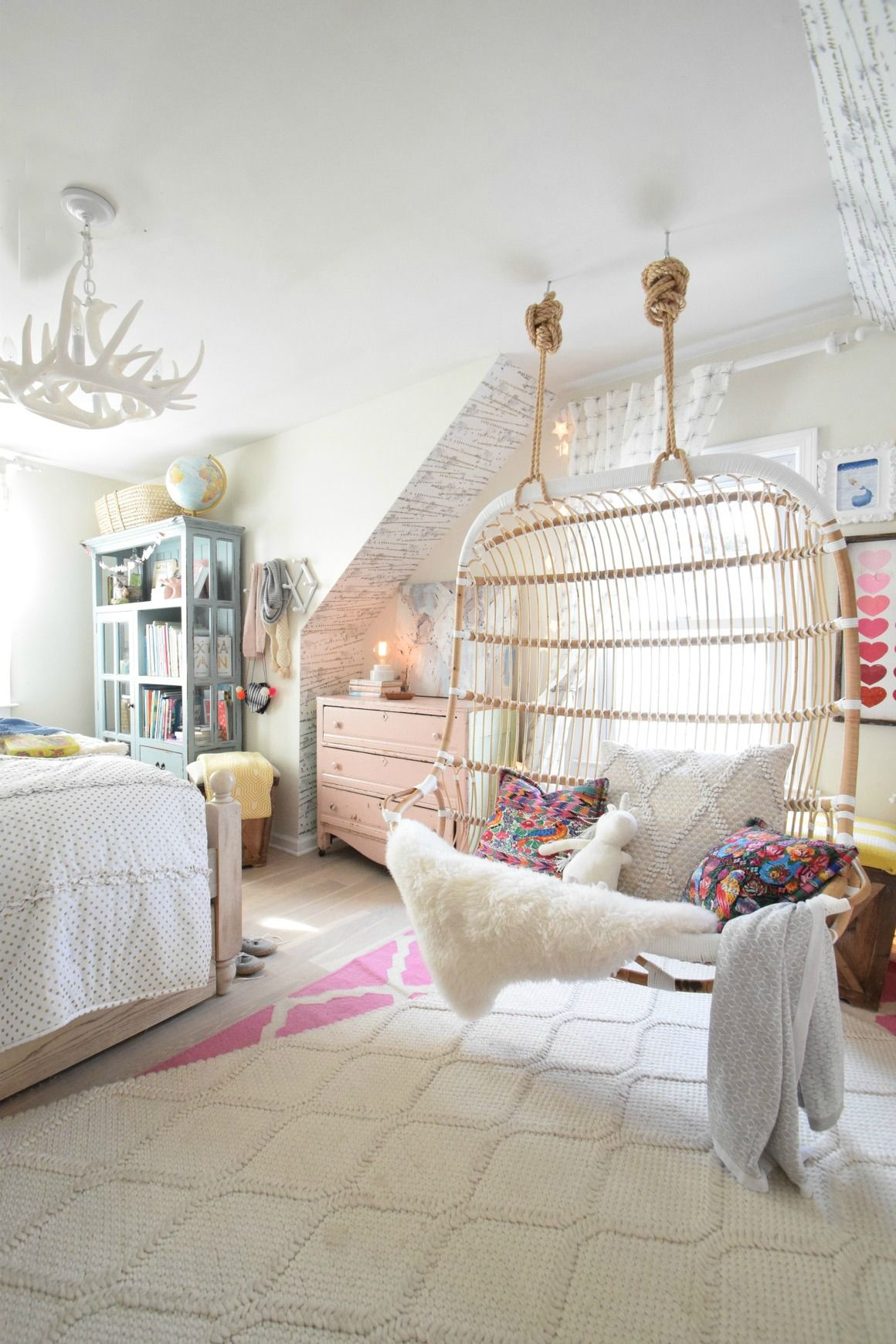 Awe Inspiring Love In The Form Of Our New Hanging Chair Kids Rooms Theyellowbook Wood Chair Design Ideas Theyellowbookinfo
