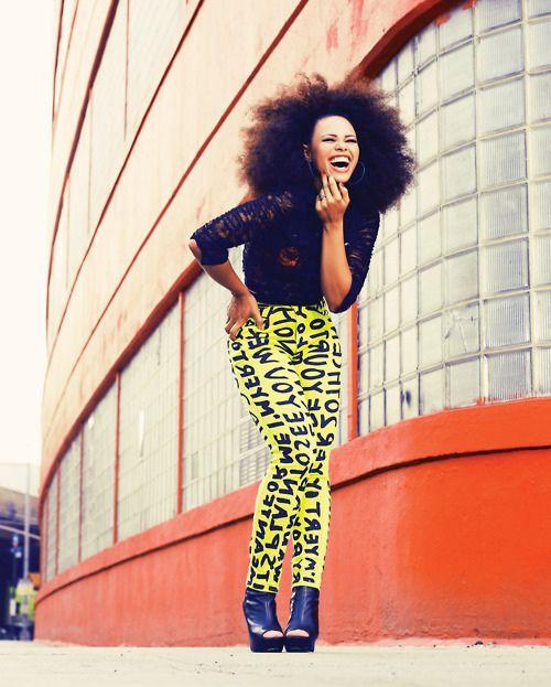 Elle! I her! .. #naturalhair my hair inspiration !