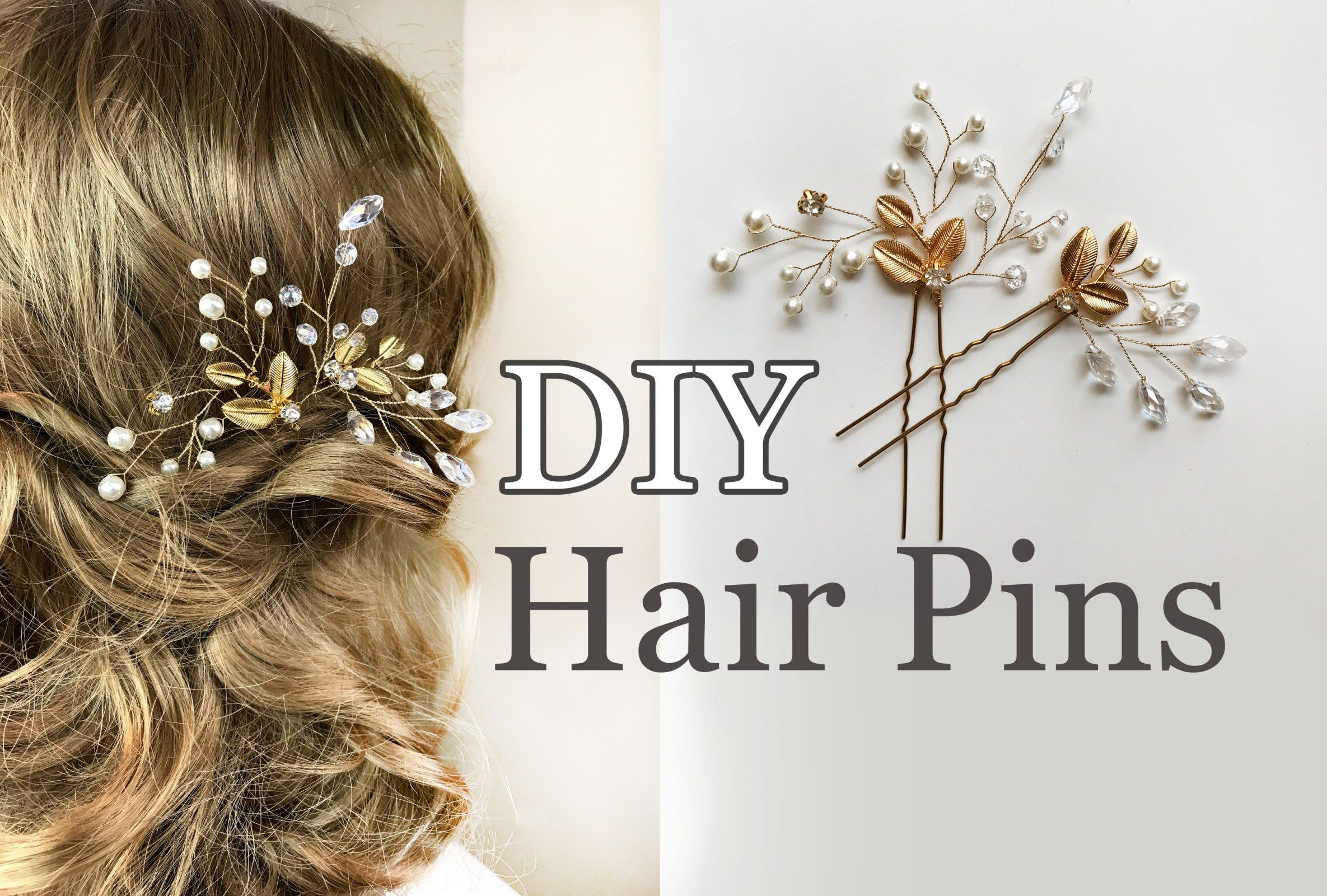 Easy Diy Bridal Hair Pins With Gold Leaves Wedding Hair Comb Tutorial Annlace Diy Bridal Hair Diy Wedding Hair Wedding Hair Pins
