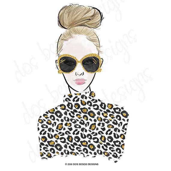 99c1d051d46f2d A chic & glamorous clipart collection of hand drawn fashion  illustrations painted in watercolors and