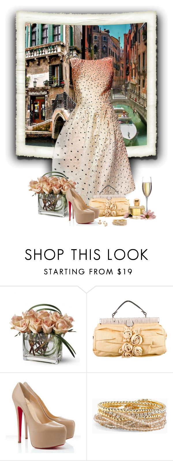 """Veneza (Itália)..."" by sil-engler ❤ liked on Polyvore featuring Lela Rose, Valentino, Christian Louboutin and Torrid"