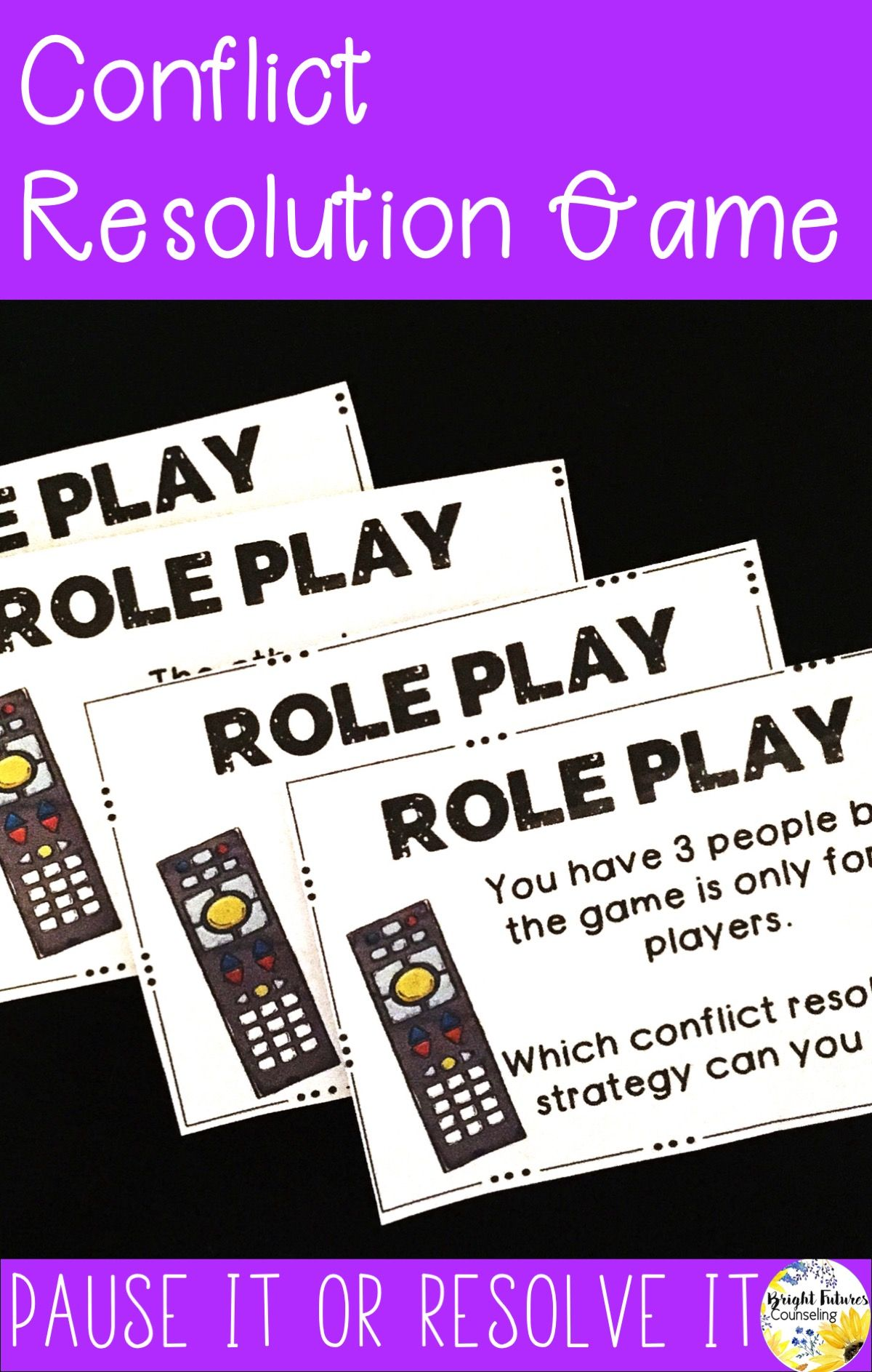 Conflict Resolution Games Pause It And Resolve It School