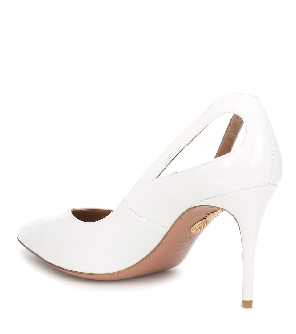 74fa92b74e4 Shiva 85 patent leather pump white #patent, #Shiva, #white ...