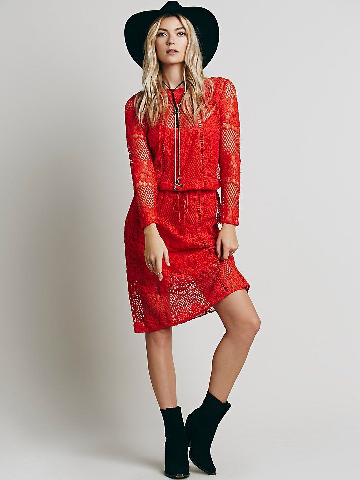 Luna Lace Dress -- loving how perfectly this look was styled!   http://www.freepeople.com/cover-ups-sundresses/luna-lace-dress/
